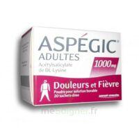 Aspegic Adultes 1000 Mg, Poudre Pour Solution Buvable En Sachet-dose 20 à SAINT-PRIEST