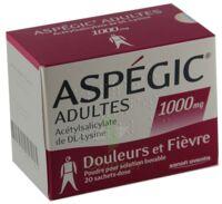 Aspegic Adultes 1000 Mg, Poudre Pour Solution Buvable En Sachet-dose 15 à SAINT-PRIEST