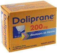 Doliprane 200 Mg Poudre Pour Solution Buvable En Sachet-dose B/12 à SAINT-PRIEST