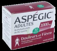 Aspegic Adultes 1000 Mg, Poudre Pour Solution Buvable En Sachet-dose 30 à SAINT-PRIEST