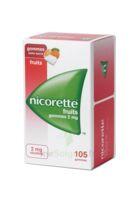 Nicorette 2 Mg Gomme à Mâcher Médicamenteuse Sans Sucre Fruits Plq/105 à SAINT-PRIEST