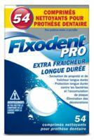 Fixodent Pro Comprimés Nettoyant Fraîcheur Longue Durée Pour Prothèse Dentaire B/54 à SAINT-PRIEST