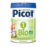 Picot Bio 1 Lait poudre B/800g à SAINT-PRIEST