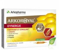Arkoroyal Dynergie Ginseng Gelée royale Propolis Solution buvable 20 Ampoules/10ml