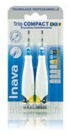 Inava Brossettes Tri Compact étroit  012 Noir 0,6mm/ Bleu 0,8mm/ Jaune 1mm à SAINT-PRIEST