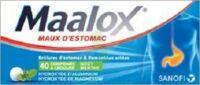 Maalox Hydroxyde D'aluminium/hydroxyde De Magnesium 400 Mg/400 Mg Cpr à Croquer Maux D'estomac Plq/40 à SAINT-PRIEST