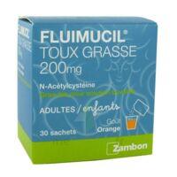 Fluimucil Expectorant Acetylcysteine 200 Mg Sans Sucre, Granulés Pour Solution Buvable En Sachet édulcorés à L'aspartam Et Au Sorbitol à SAINT-PRIEST