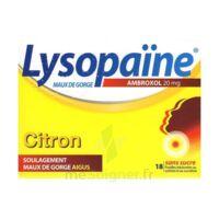 LysopaÏne Ambroxol 20 Mg Pastilles Maux De Gorge Sans Sucre Citron Plq/18 à SAINT-PRIEST