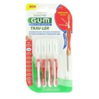 Gum Trav-ler 4 Brossettes Rouge Interdentaires 0.8mm à SAINT-PRIEST