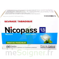 Nicopass 1,5 Mg Pastille Sans Sucre Menthe Fraîcheur Plq/96 à SAINT-PRIEST