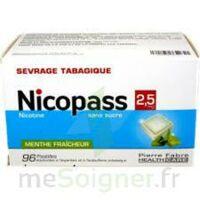 Nicopass 2,5 Mg Pastille Menthe Fraîcheur Sans Sucre Plq/96 à SAINT-PRIEST
