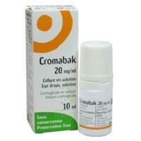 Cromabak 20 Mg/ml, Collyre En Solution à SAINT-PRIEST