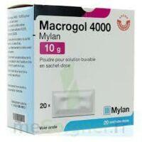 Macrogol 4000 Mylan 10 G, Poudre Pour Solution Buvable En Sachet-dose à SAINT-PRIEST
