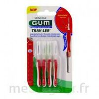 GUM TRAV - LER, 0,8 mm, manche rouge , blister 4 à SAINT-PRIEST