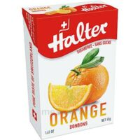 Halter Bonbon sans sucre orange 40g
