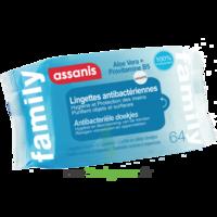 Assanis Family Lingette Antibactérien Mains Pochette/64 à SAINT-PRIEST