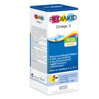 Pédiakid Omega 3 Sirop framboise 125ml à SAINT-PRIEST