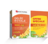 Forte Pharma Gelée royale 1000 mg Solution buvable 2*B/20 Ampoules/10ml à SAINT-PRIEST