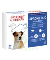 Fiprokil Duo 67mg/20mg Solution Pour Spot-on Petits Chiens 2-10kg 4 Pipettes/0,67ml à SAINT-PRIEST